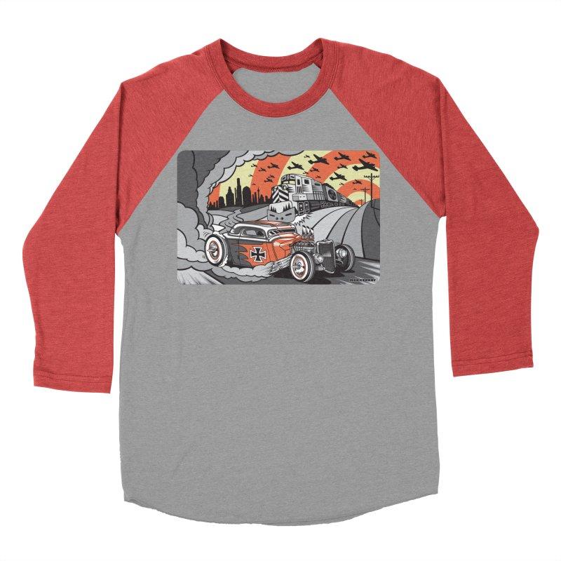 BERLIN BURNOUT Men's Baseball Triblend Longsleeve T-Shirt by Max Grundy Design's Artist Shop
