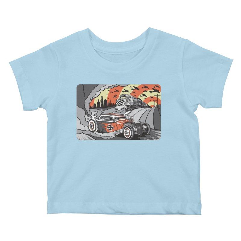 BERLIN BURNOUT Kids Baby T-Shirt by Max Grundy Design's Artist Shop
