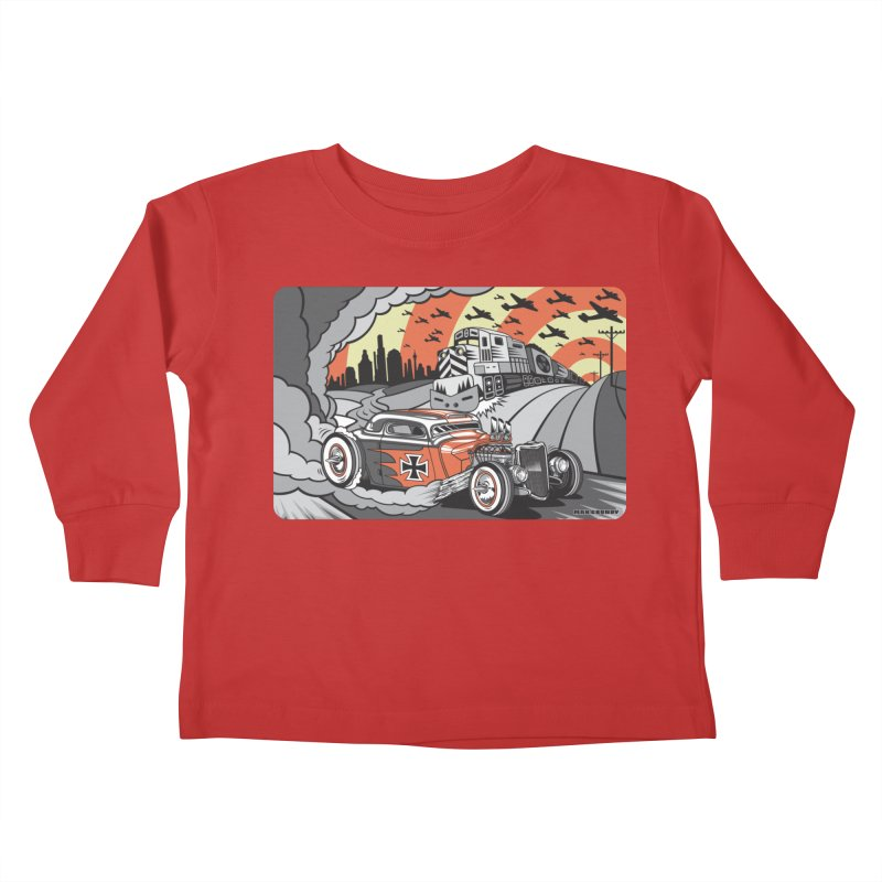 BERLIN BURNOUT Kids Toddler Longsleeve T-Shirt by Max Grundy Design's Artist Shop