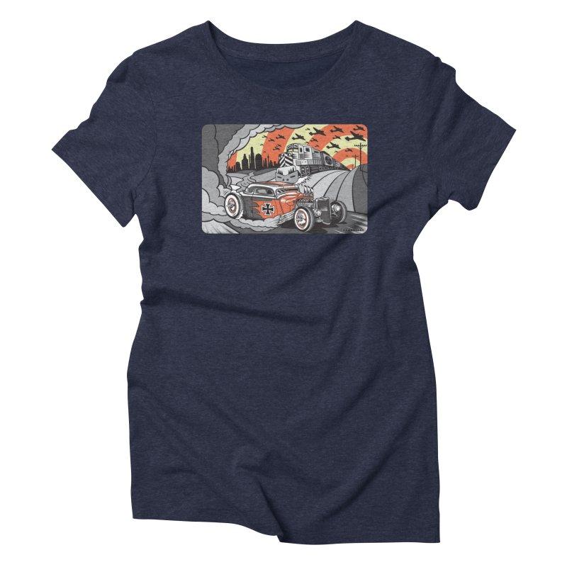 BERLIN BURNOUT Women's Triblend T-Shirt by Max Grundy Design's Artist Shop
