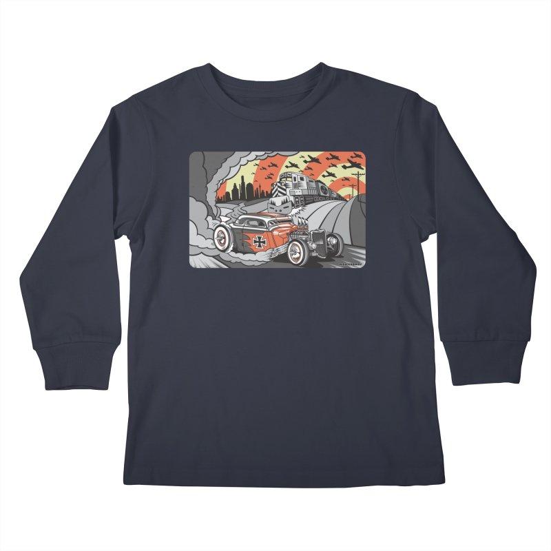 BERLIN BURNOUT Kids Longsleeve T-Shirt by Max Grundy Design's Artist Shop