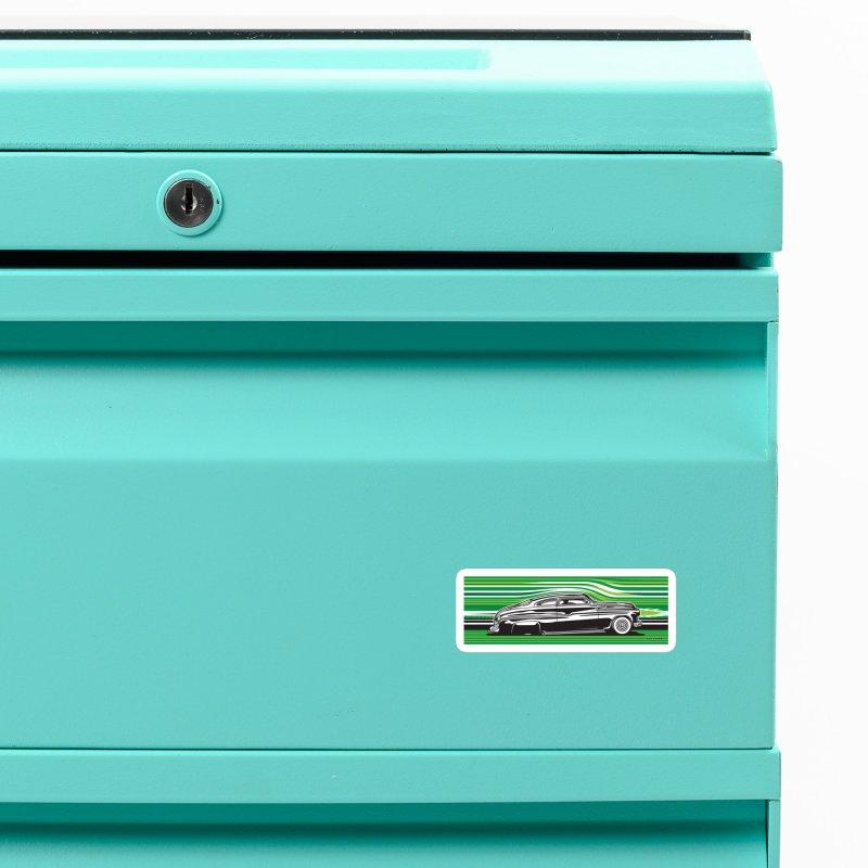 GREEN STREAMLINE 50 Accessories Magnet by Max Grundy Design's Artist Shop