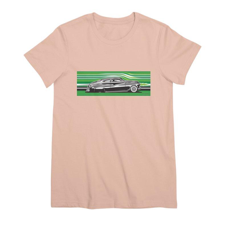 GREEN STREAMLINE 50 Women's Premium T-Shirt by Max Grundy Design's Artist Shop