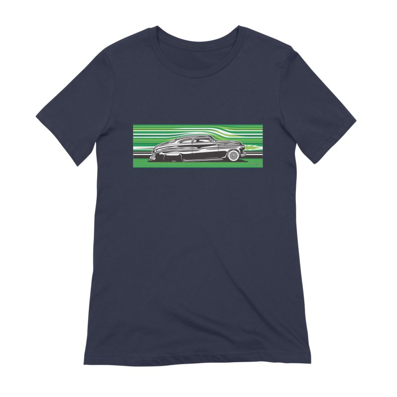 GREEN STREAMLINE 50 Women's Extra Soft T-Shirt by Max Grundy Design's Artist Shop