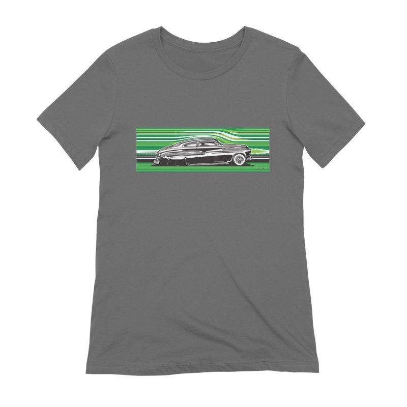 GREEN STREAMLINE 50 Women's T-Shirt by Max Grundy Design's Artist Shop