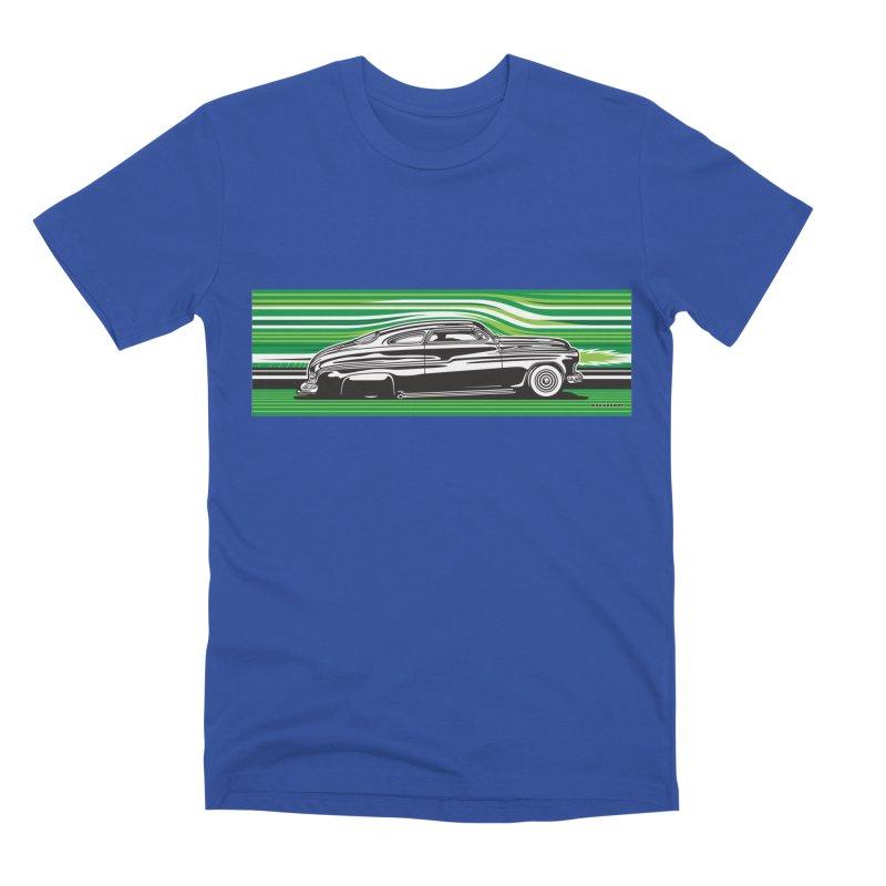 GREEN STREAMLINE 50 Men's Premium T-Shirt by Max Grundy Design's Artist Shop