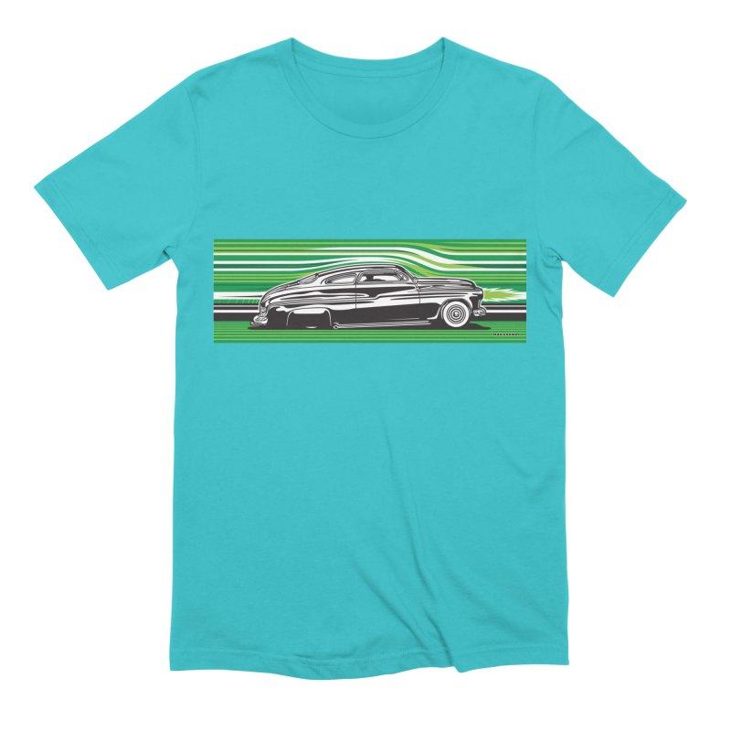 GREEN STREAMLINE 50 Men's Extra Soft T-Shirt by Max Grundy Design's Artist Shop