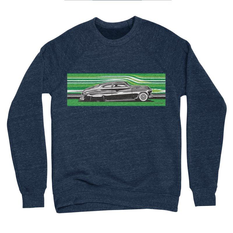 GREEN STREAMLINE 50 Men's Sponge Fleece Sweatshirt by Max Grundy Design's Artist Shop