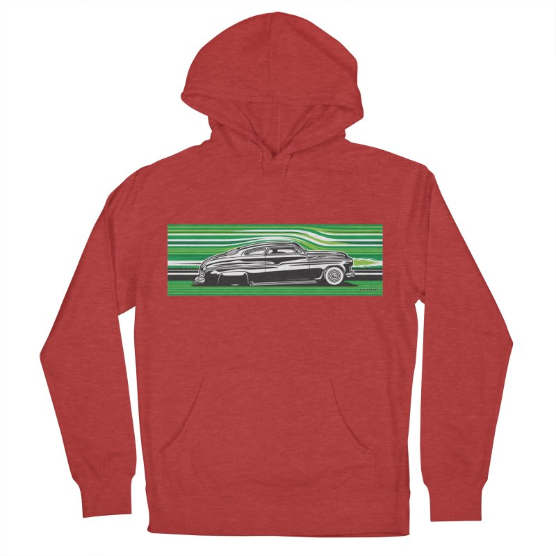 GREEN STREAMLINE 50 Women's French Terry Pullover Hoody by Max Grundy Design's Artist Shop