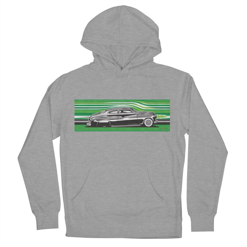 GREEN STREAMLINE 50 Men's French Terry Pullover Hoody by Max Grundy Design's Artist Shop