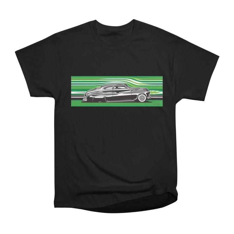 GREEN STREAMLINE 50 Men's Heavyweight T-Shirt by Max Grundy Design's Artist Shop
