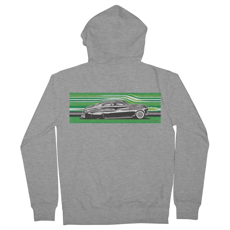 GREEN STREAMLINE 50 Women's French Terry Zip-Up Hoody by Max Grundy Design's Artist Shop