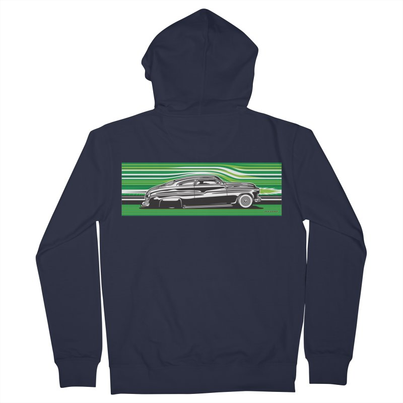 GREEN STREAMLINE 50 Men's French Terry Zip-Up Hoody by Max Grundy Design's Artist Shop