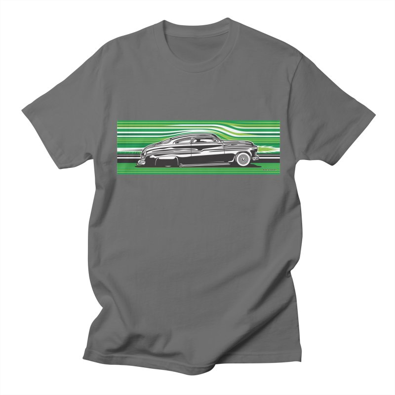 GREEN STREAMLINE 50 Men's T-Shirt by Max Grundy Design's Artist Shop