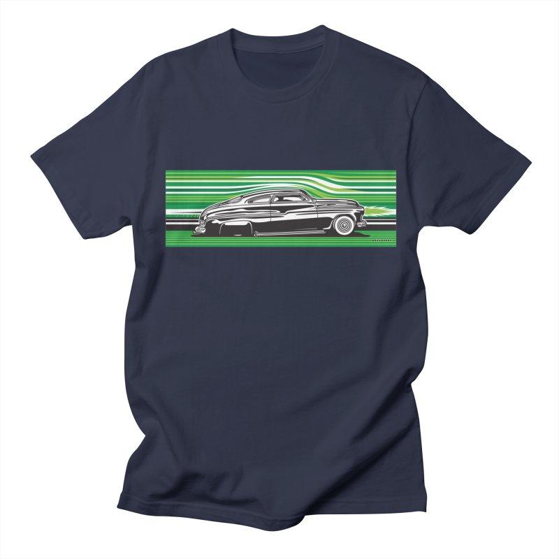 GREEN STREAMLINE 50 Men's Regular T-Shirt by Max Grundy Design's Artist Shop