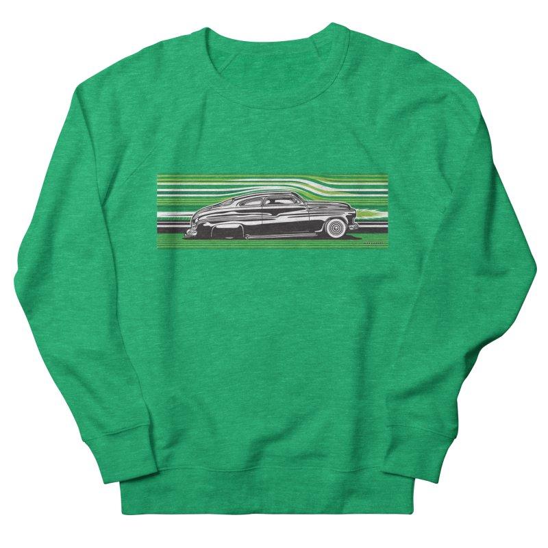 GREEN STREAMLINE 50 Men's French Terry Sweatshirt by Max Grundy Design's Artist Shop