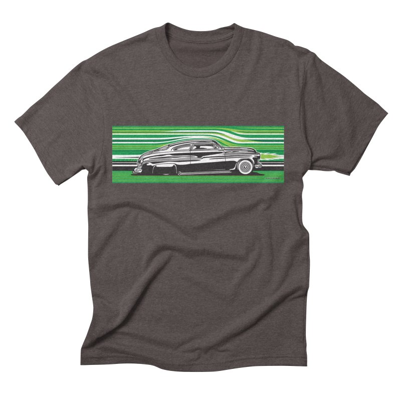 GREEN STREAMLINE 50 Men's Triblend T-Shirt by Max Grundy Design's Artist Shop