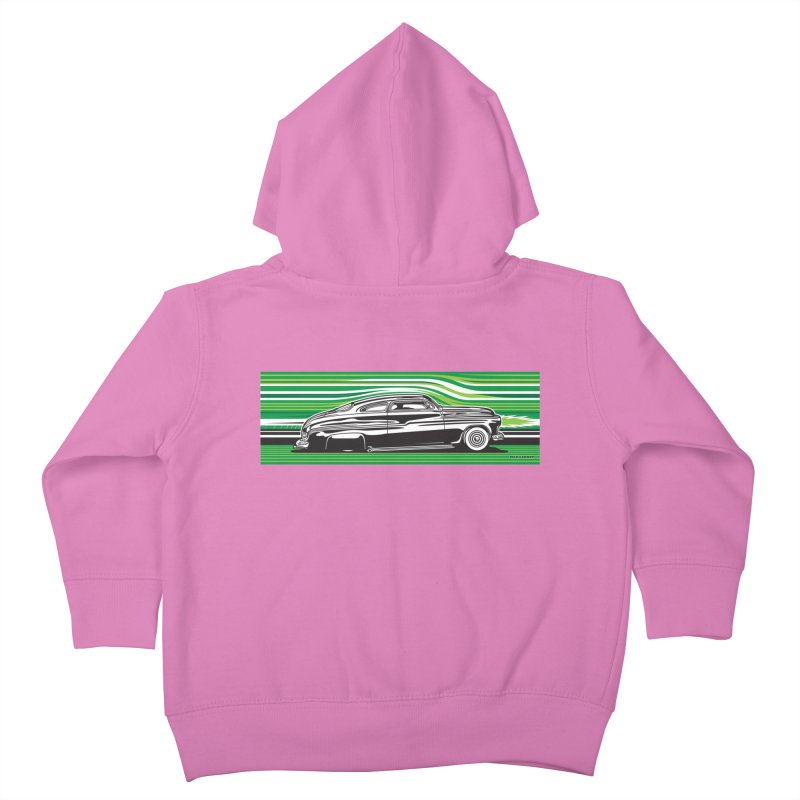 GREEN STREAMLINE 50 Kids Toddler Zip-Up Hoody by Max Grundy Design's Artist Shop
