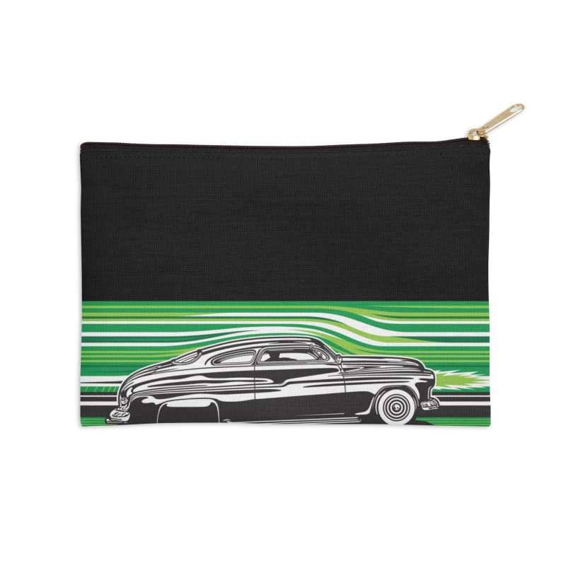 GREEN STREAMLINE 50 Accessories Zip Pouch by Max Grundy Design's Artist Shop