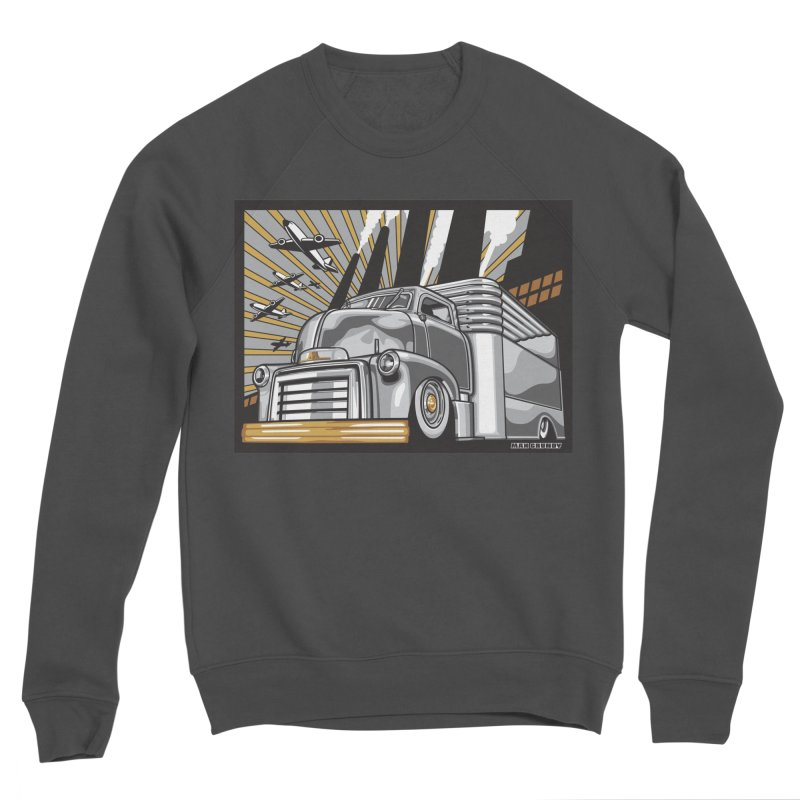 WAR PAINT Women's Sponge Fleece Sweatshirt by Max Grundy Design's Artist Shop