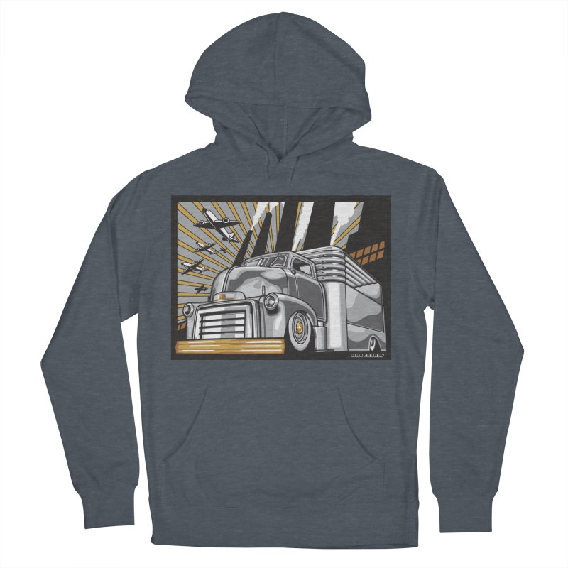 WAR PAINT Women's French Terry Pullover Hoody by Max Grundy Design's Artist Shop