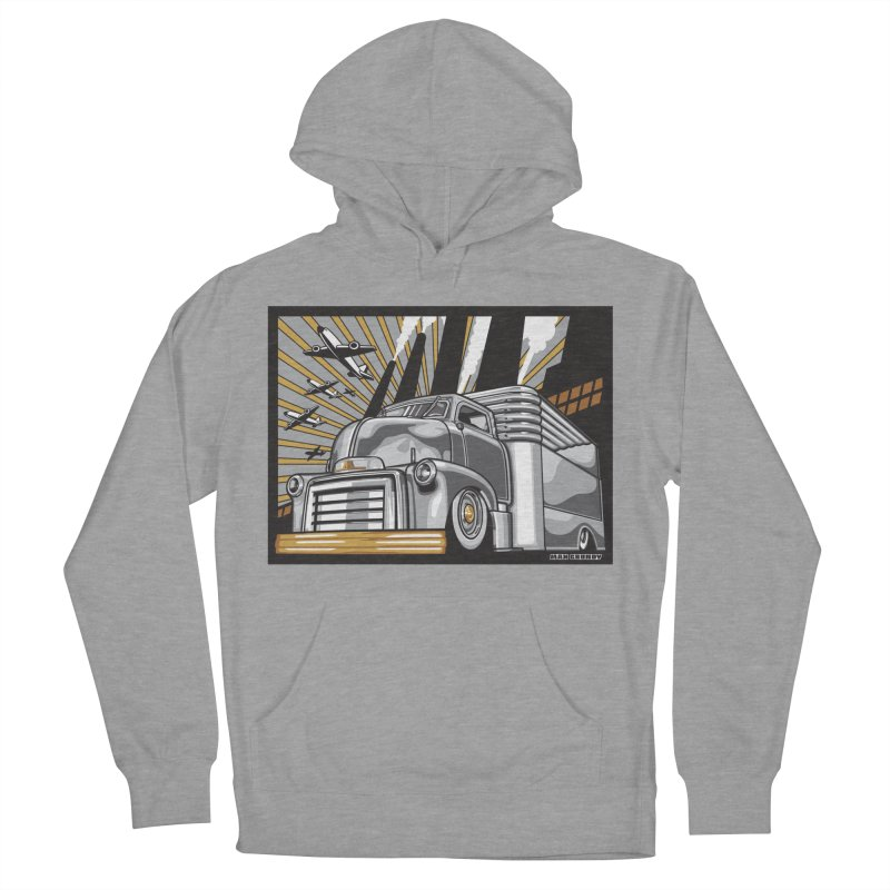 WAR PAINT Men's French Terry Pullover Hoody by Max Grundy Design's Artist Shop
