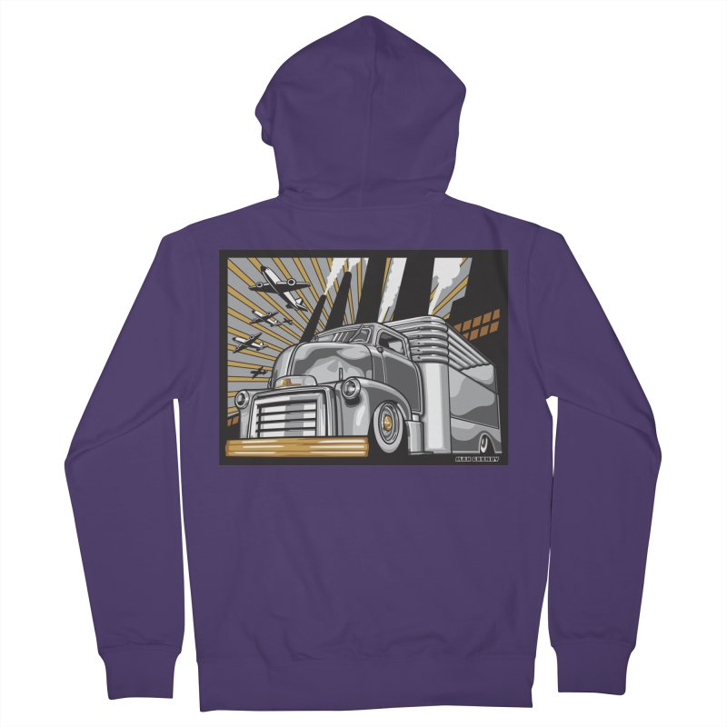 WAR PAINT Women's French Terry Zip-Up Hoody by Max Grundy Design's Artist Shop