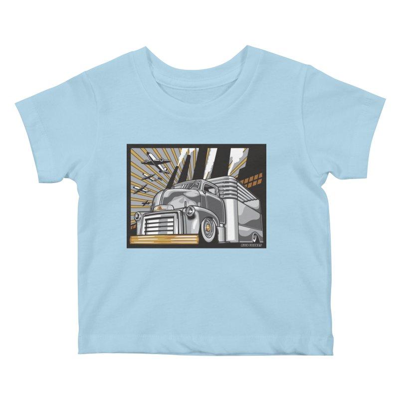 WAR PAINT Kids Baby T-Shirt by Max Grundy Design's Artist Shop
