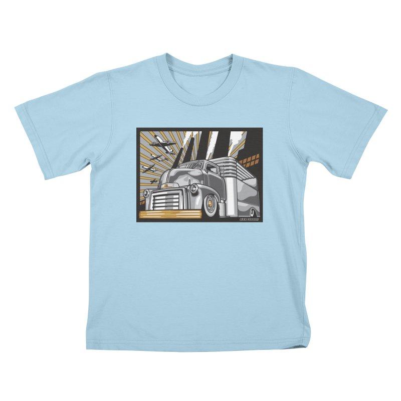 WAR PAINT Kids T-Shirt by Max Grundy Design's Artist Shop