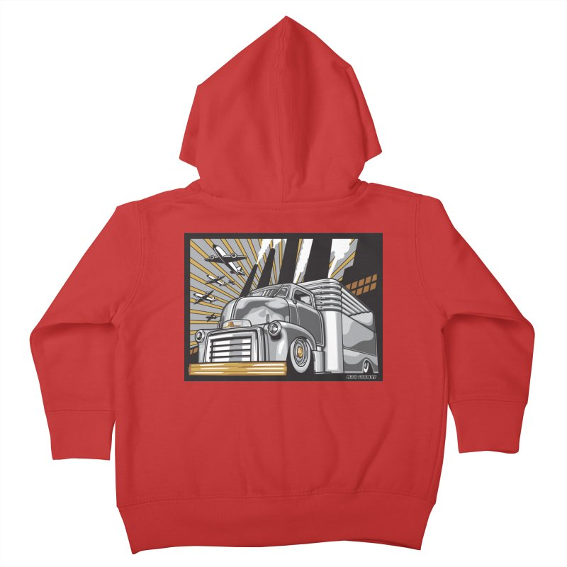 WAR PAINT Kids Toddler Zip-Up Hoody by Max Grundy Design's Artist Shop