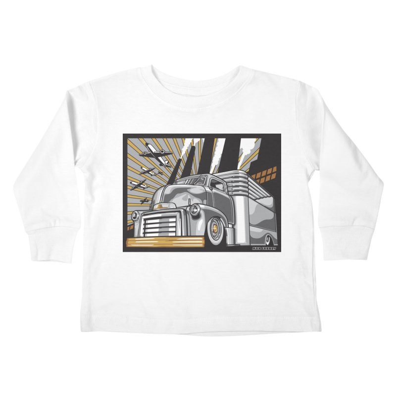 WAR PAINT Kids Toddler Longsleeve T-Shirt by Max Grundy Design's Artist Shop
