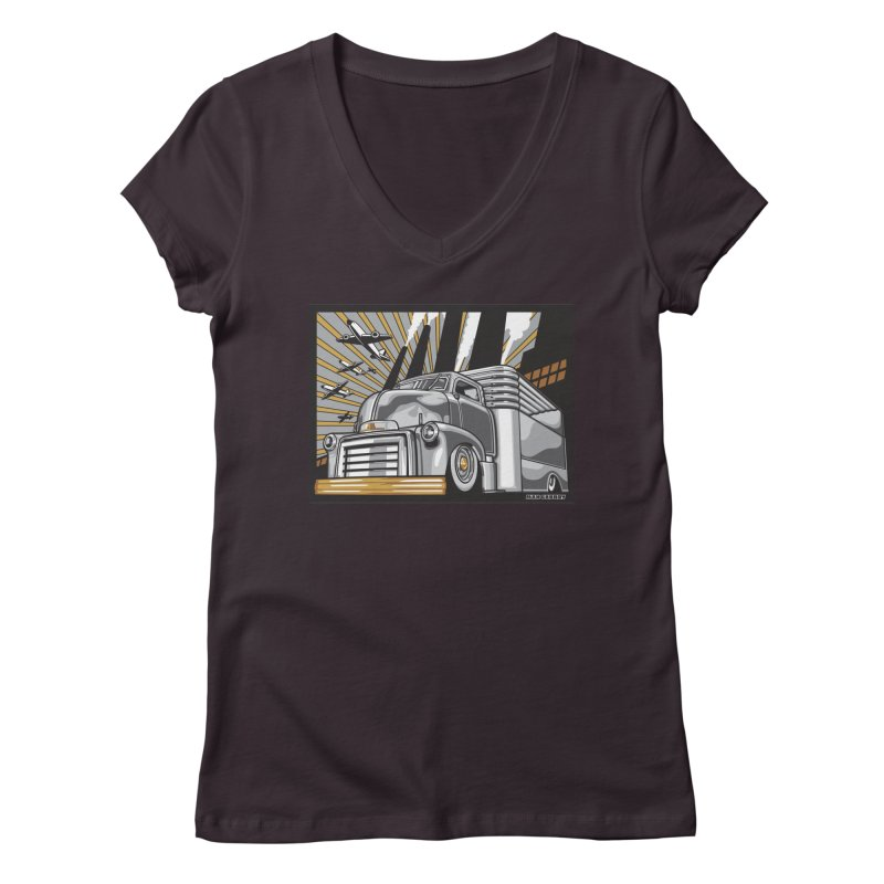 WAR PAINT Women's Regular V-Neck by Max Grundy Design's Artist Shop