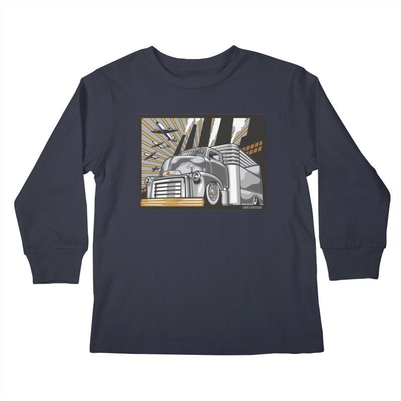 WAR PAINT Kids Longsleeve T-Shirt by Max Grundy Design's Artist Shop