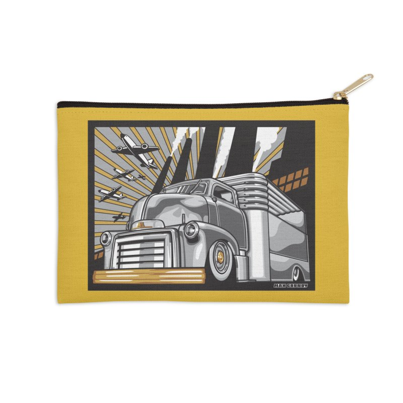 WAR PAINT Accessories Zip Pouch by Max Grundy Design's Artist Shop