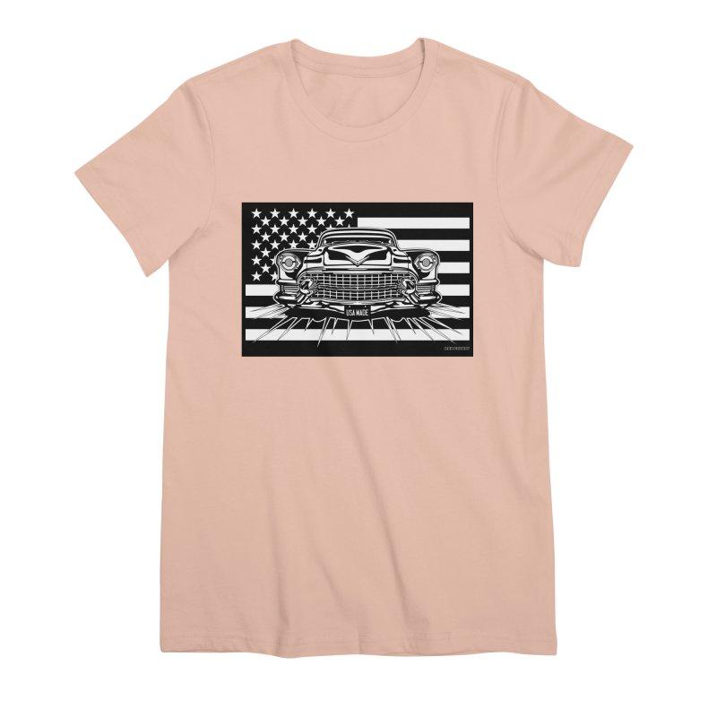 USA MADE Women's Premium T-Shirt by Max Grundy Design's Artist Shop