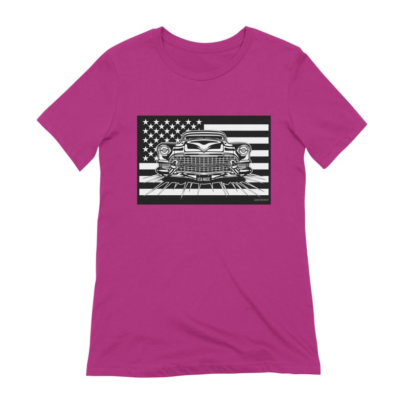 USA MADE Women's Extra Soft T-Shirt by Max Grundy Design's Artist Shop