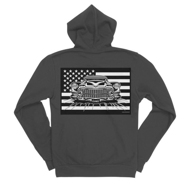 USA MADE Men's Sponge Fleece Zip-Up Hoody by Max Grundy Design's Artist Shop