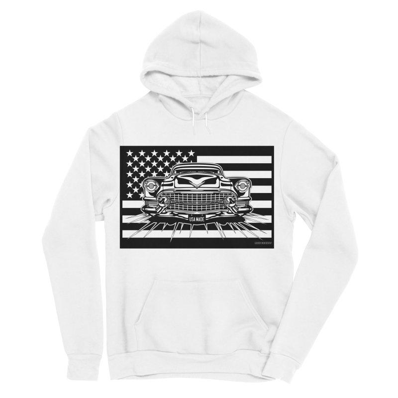 USA MADE Men's Sponge Fleece Pullover Hoody by Max Grundy Design's Artist Shop