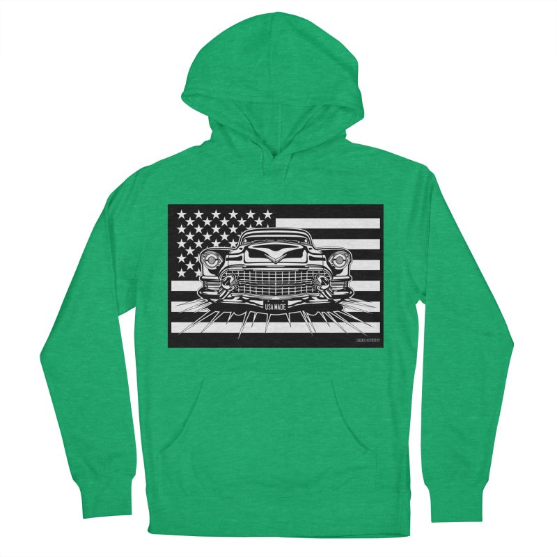 USA MADE Women's French Terry Pullover Hoody by Max Grundy Design's Artist Shop