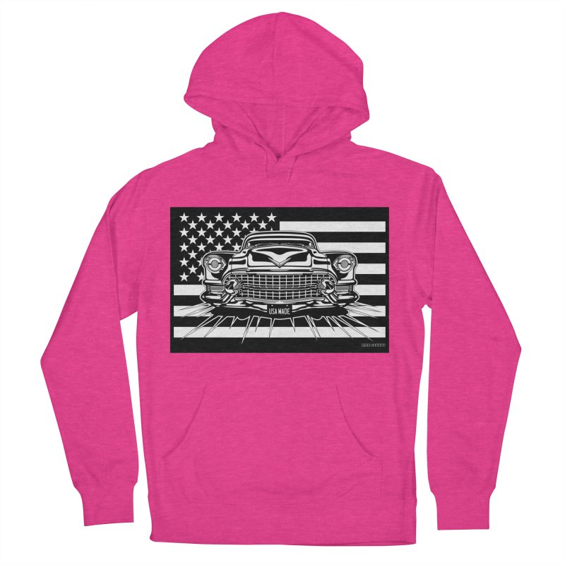 USA MADE Men's French Terry Pullover Hoody by Max Grundy Design's Artist Shop