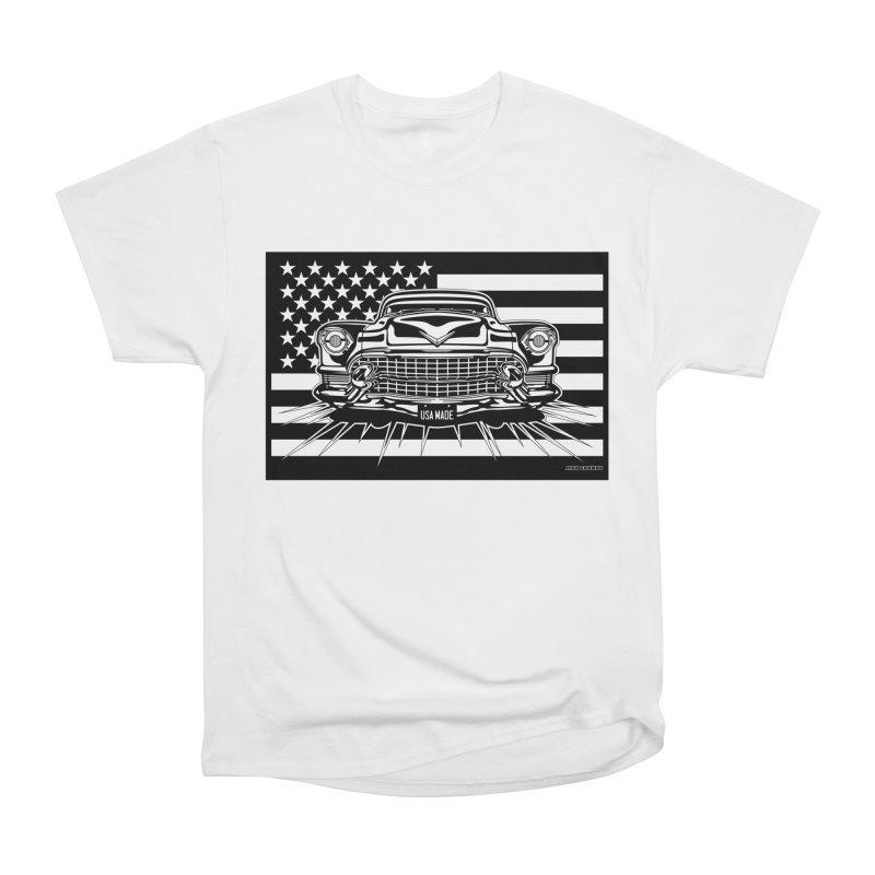 USA MADE Women's Heavyweight Unisex T-Shirt by Max Grundy Design's Artist Shop