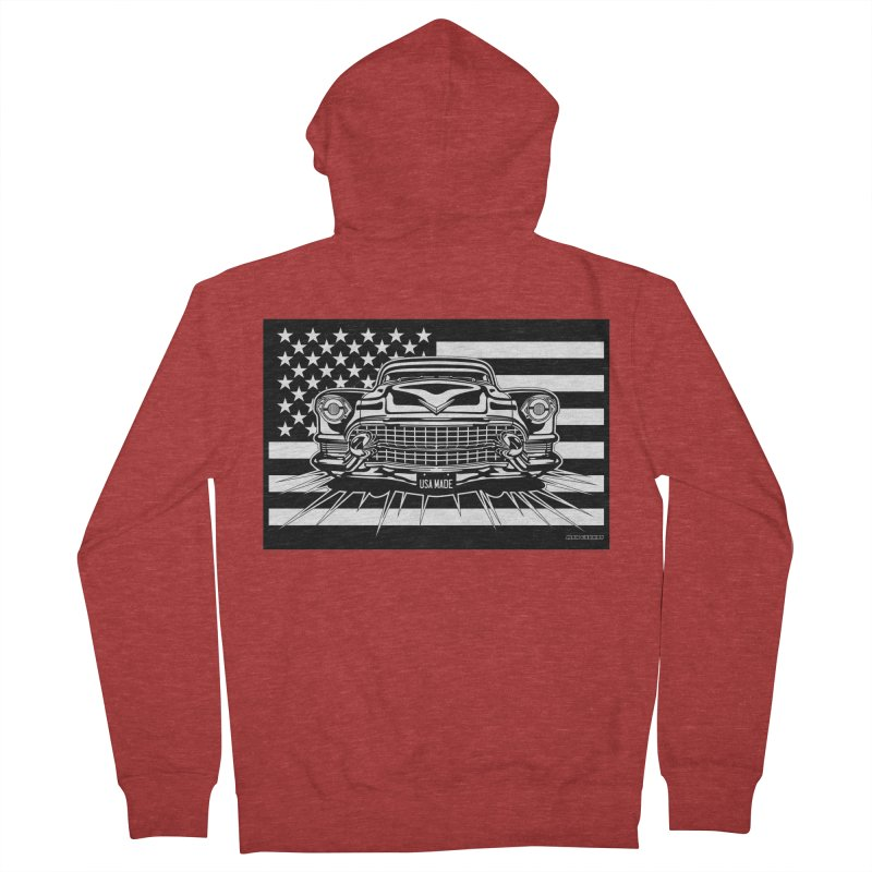 USA MADE Women's French Terry Zip-Up Hoody by Max Grundy Design's Artist Shop