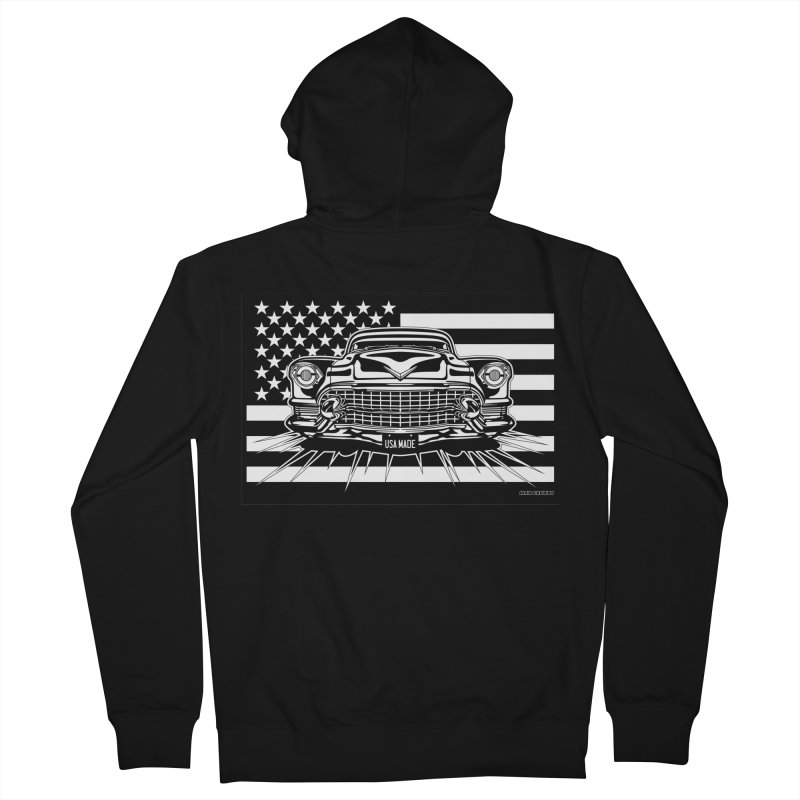 USA MADE Men's French Terry Zip-Up Hoody by Max Grundy Design's Artist Shop