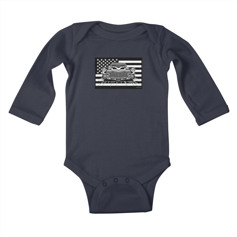 USA MADE Kids Baby Longsleeve Bodysuit by Max Grundy Design's Artist Shop