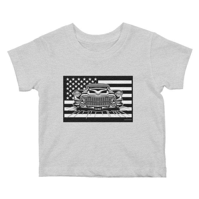 USA MADE Kids Baby T-Shirt by Max Grundy Design's Artist Shop