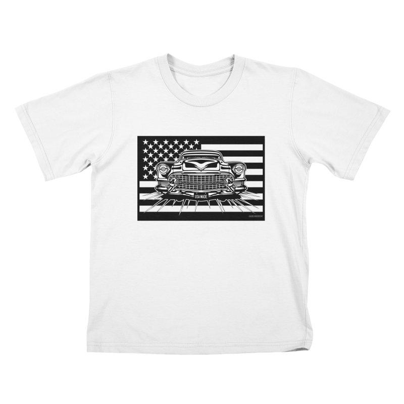 USA MADE Kids T-Shirt by Max Grundy Design's Artist Shop