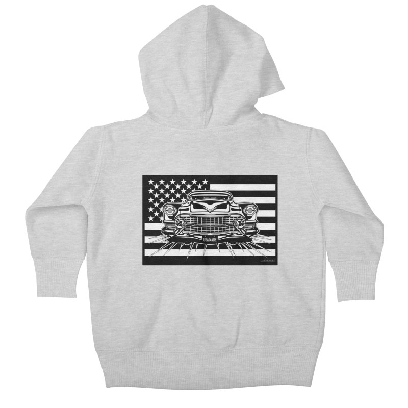 USA MADE Kids Baby Zip-Up Hoody by Max Grundy Design's Artist Shop