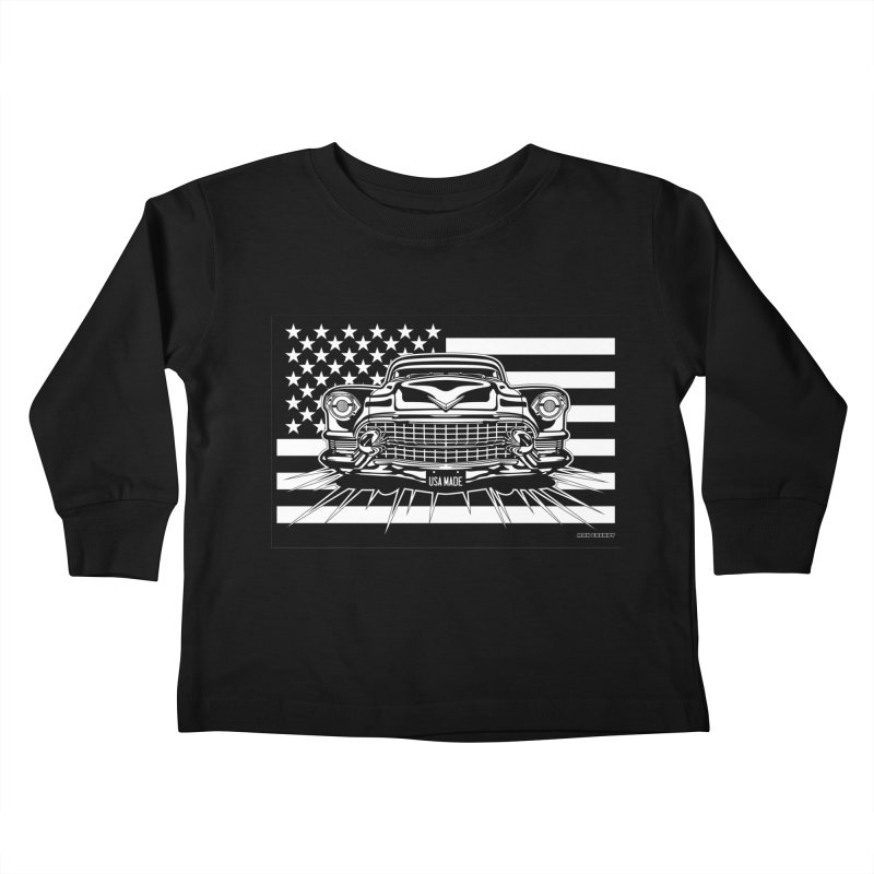 USA MADE Kids Toddler Longsleeve T-Shirt by Max Grundy Design's Artist Shop