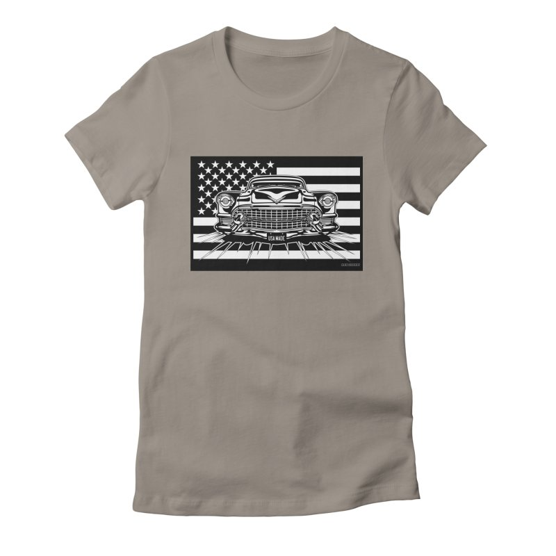USA MADE Women's Fitted T-Shirt by Max Grundy Design's Artist Shop