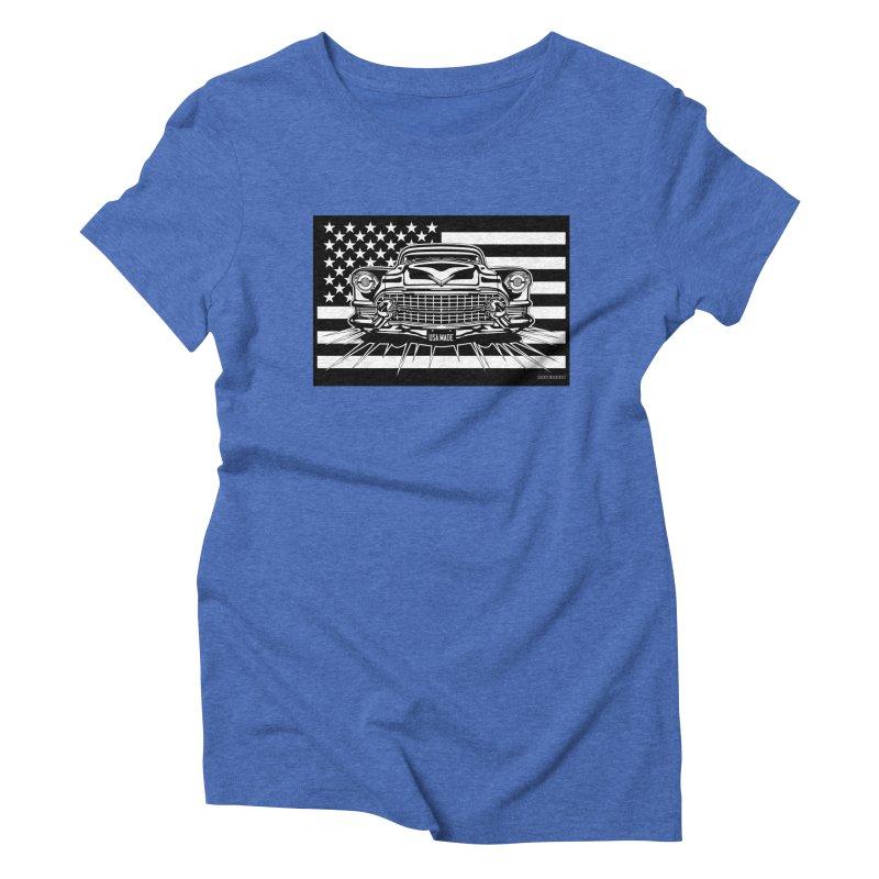 USA MADE Women's Triblend T-Shirt by Max Grundy Design's Artist Shop